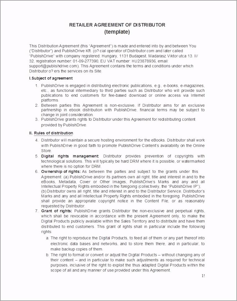distribution agreement 28 utpxo