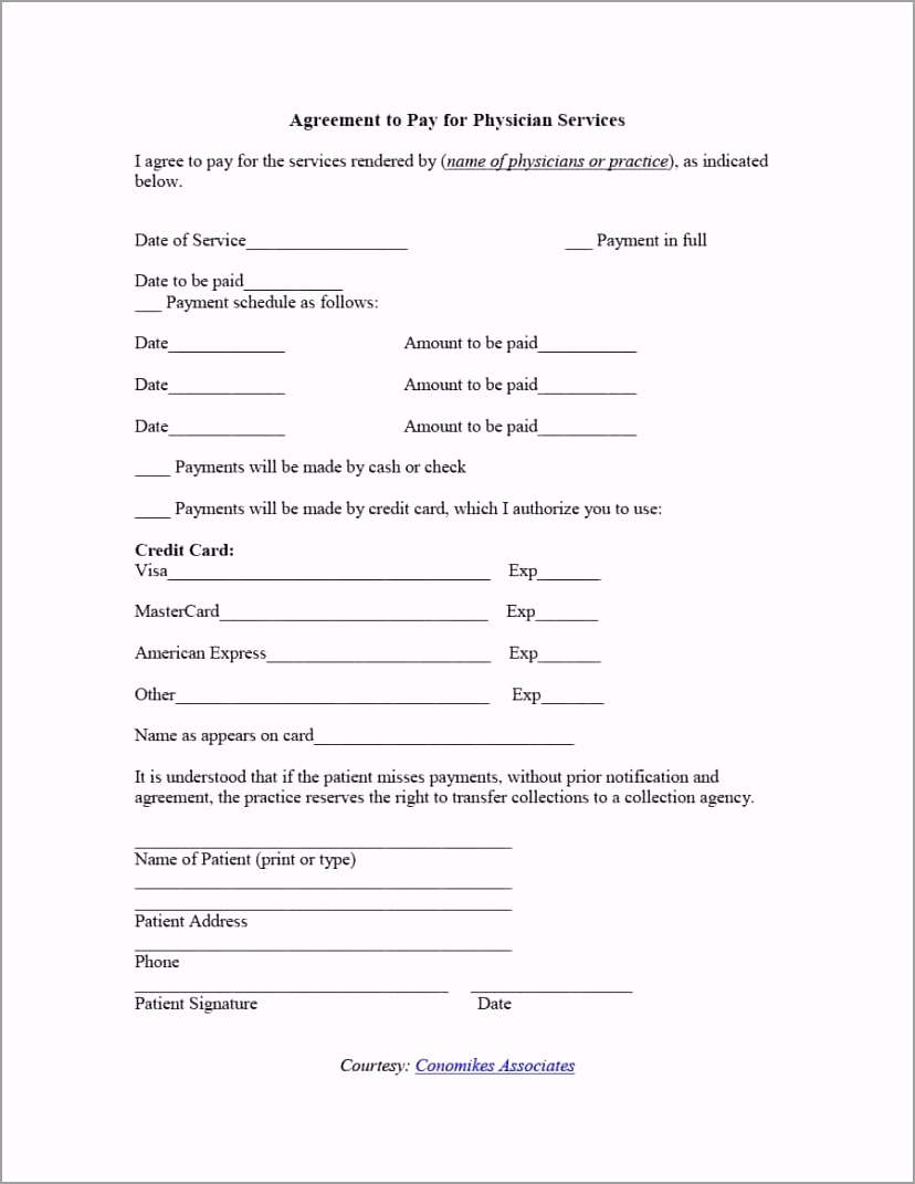 payment agreement template 10 ywwuu