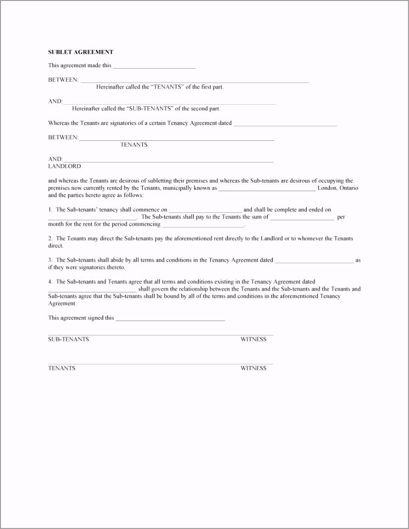 sublease agreement template 04 iejpp