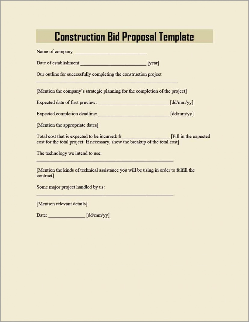 construction proposal template 11 acwiy