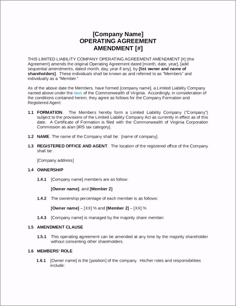 simple llc operating agreement template free simple llc operating agreement template edit fill sign oaaio