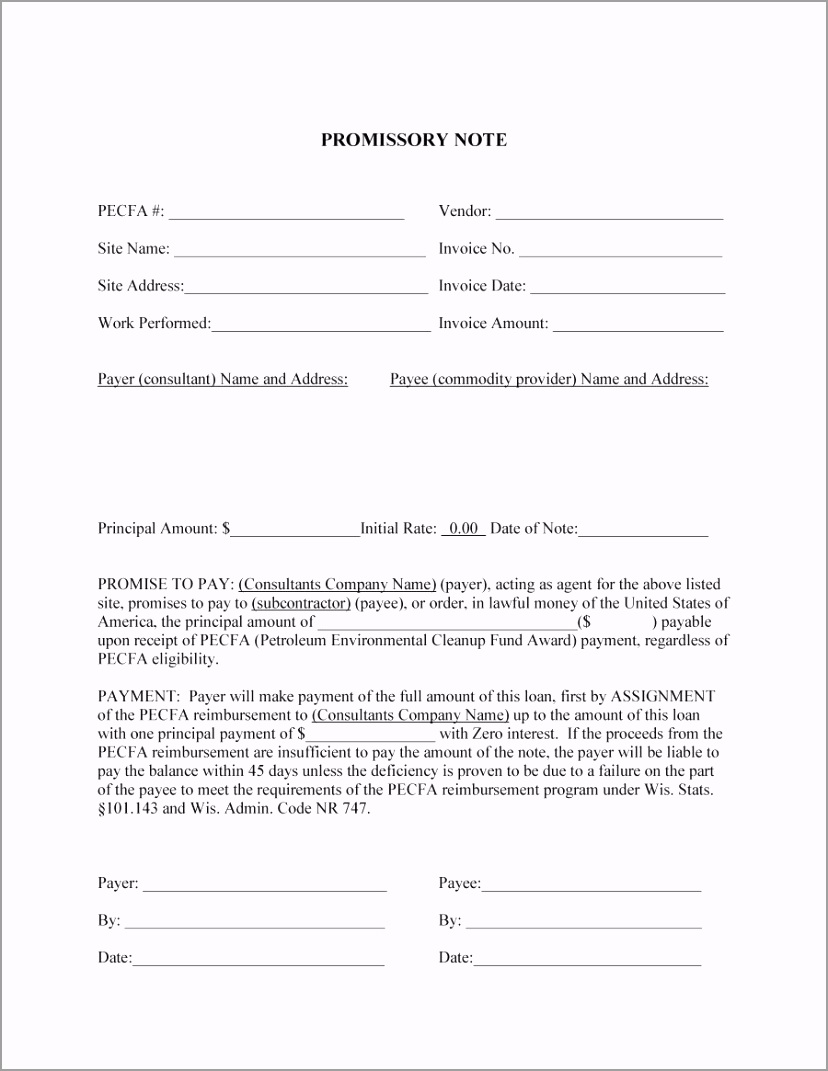 promissory note template 41 yryir