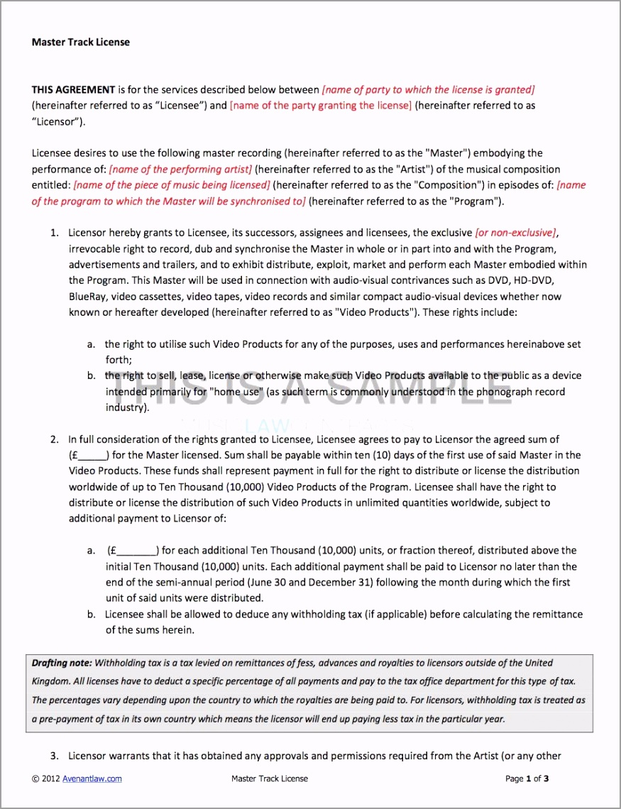 film contract template utgwy