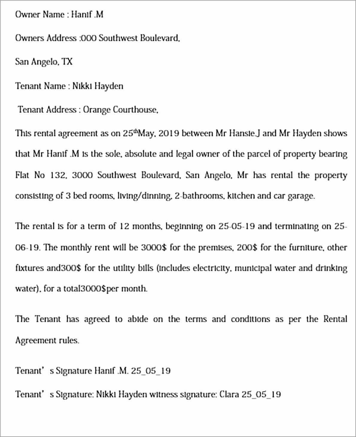 basic rental agreement templates iwwei