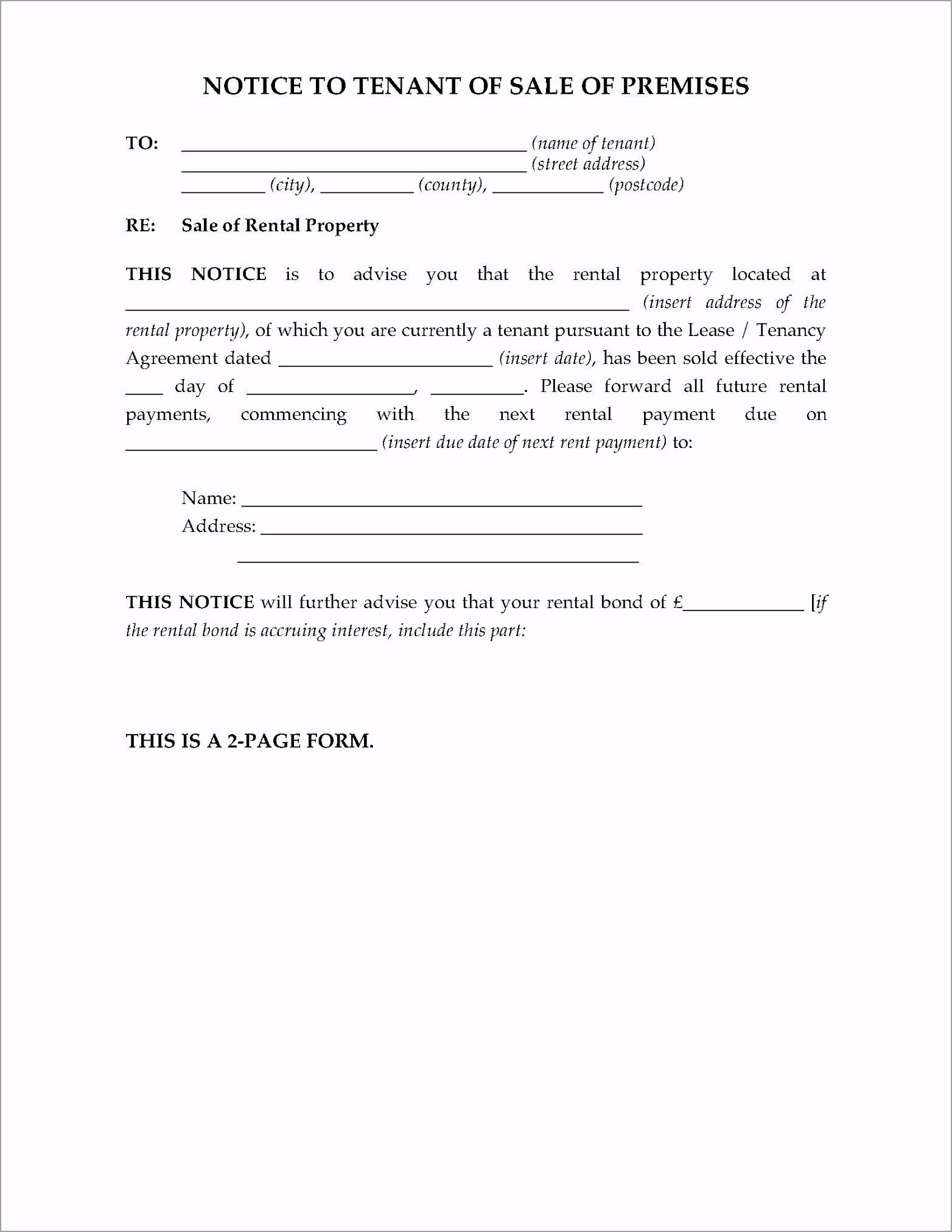application to refer notice proposing different terms to tribunal england yrvit