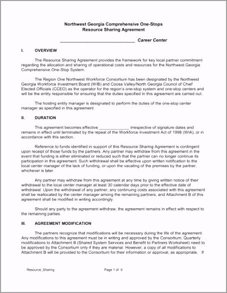 resource sharing agreement northwest georgia career depot tpyxr