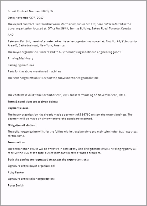 export contract template image epiei