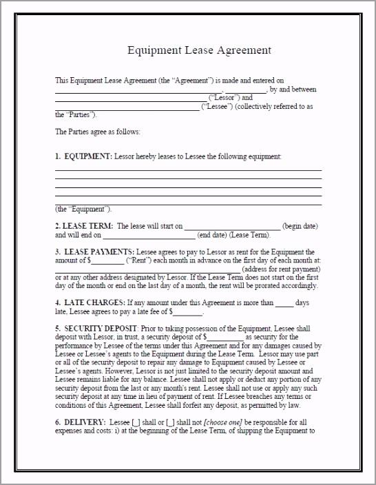 pdf form 05 equipment lease agreement enteu