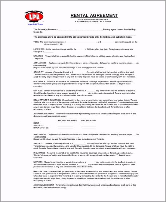 Free Download Basic Rental Agreement PDF Format ewryz