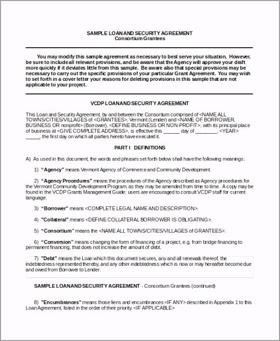 Business Loan Security Agreement roetu