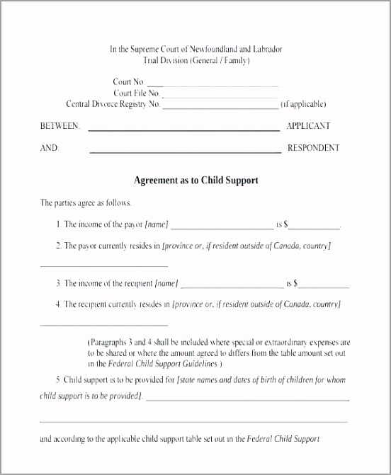 child support agreement template 7 cover letter maintenance contract free aepli