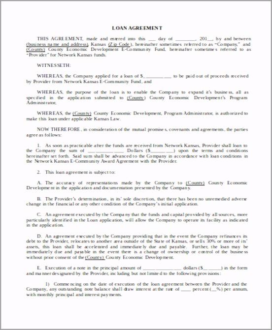 Sample Personal Loan Agreement arwpu