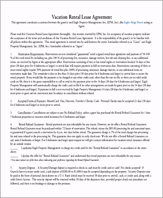 Vacation Rental Lease Agreement PDF Free Download1 tttyi
