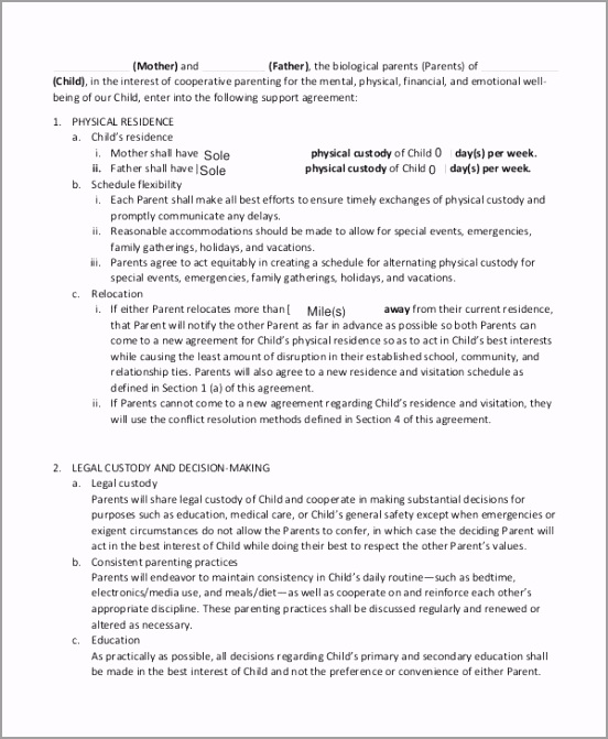 Private Child Support Agreement Template tuyiu