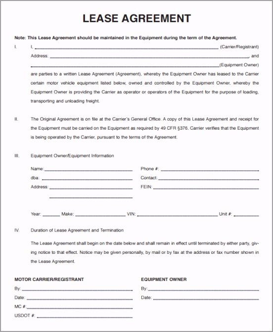 Lease Agreement Template Seven yiacu