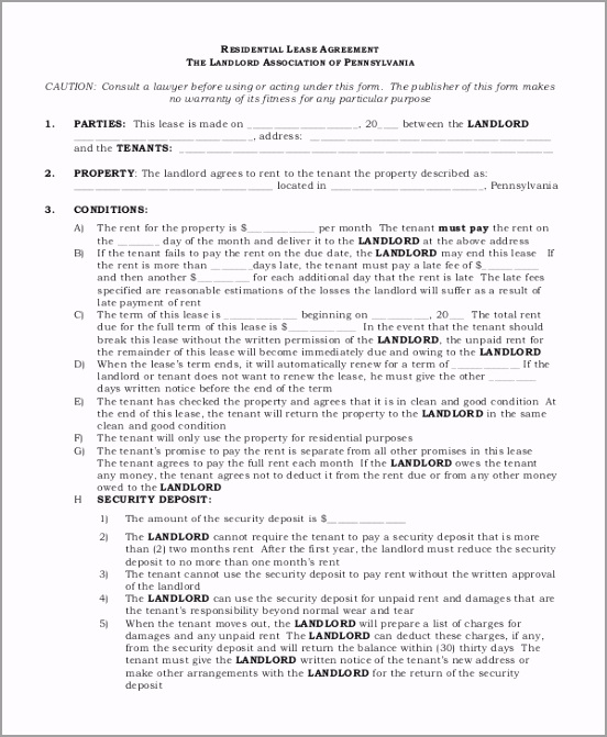 Basic Residential Lease Agreement aeiao