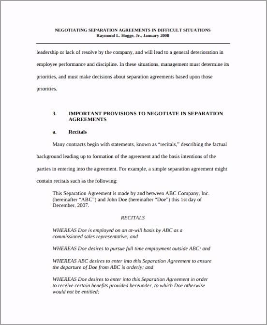 Formal Business Separation Agreement yltrt