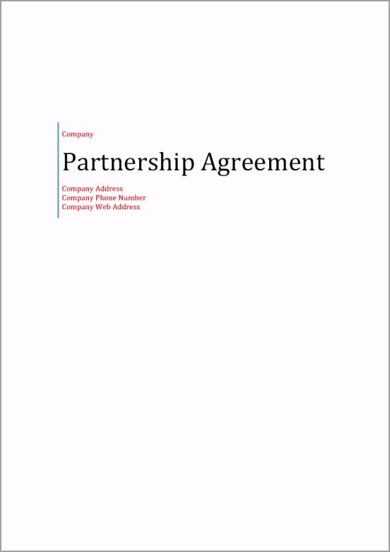 partnership agreement 1 eoiyr