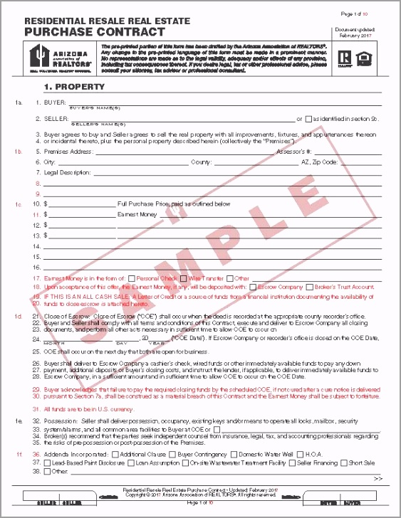 Residential Resale Real Estate Purchase Contract Form 2 2017 red edit Page 02 reuat
