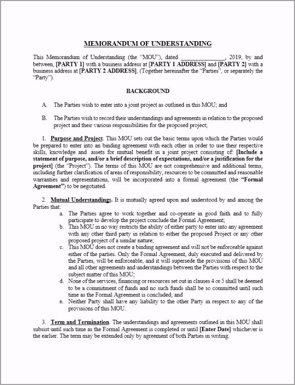 Memorandum of Understanding yeoco