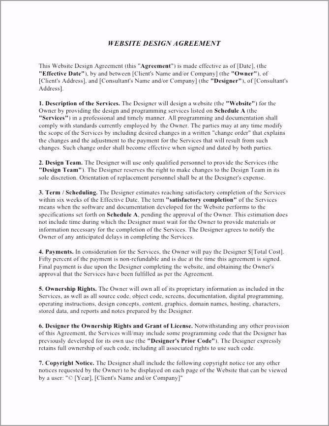 website design agreement template 1 728 riato