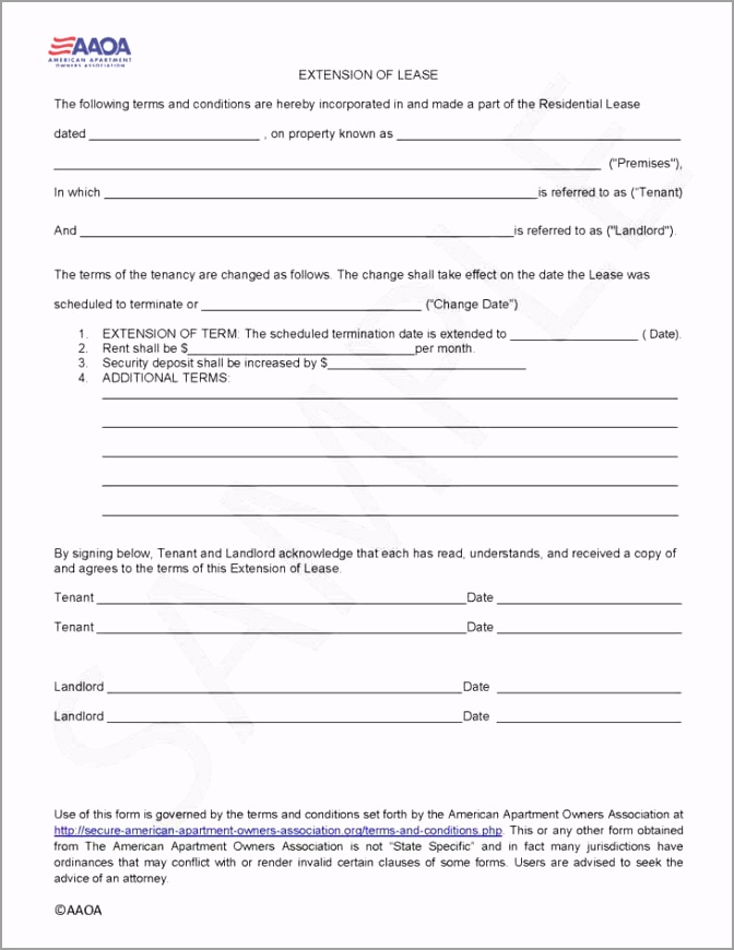 Extension of Lease irwbn