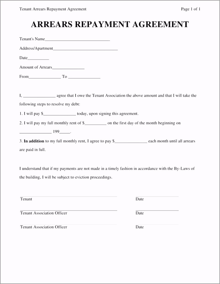Sample Personal Loan Repayment Agreement ygegr