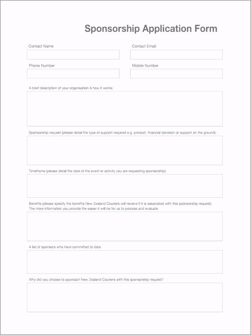 Sponsorship Application iowap