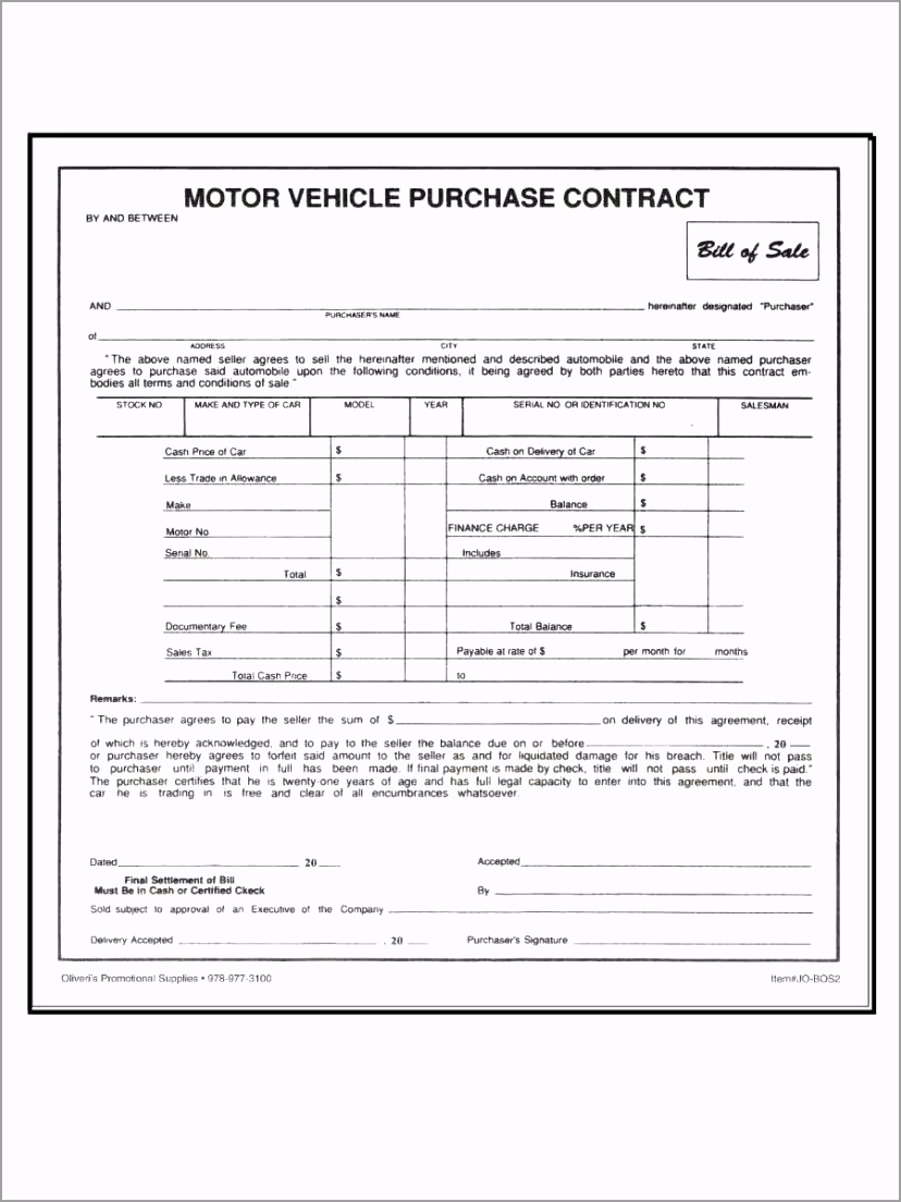 motor vehicle cash purchase contract 100pk 2 eiyor