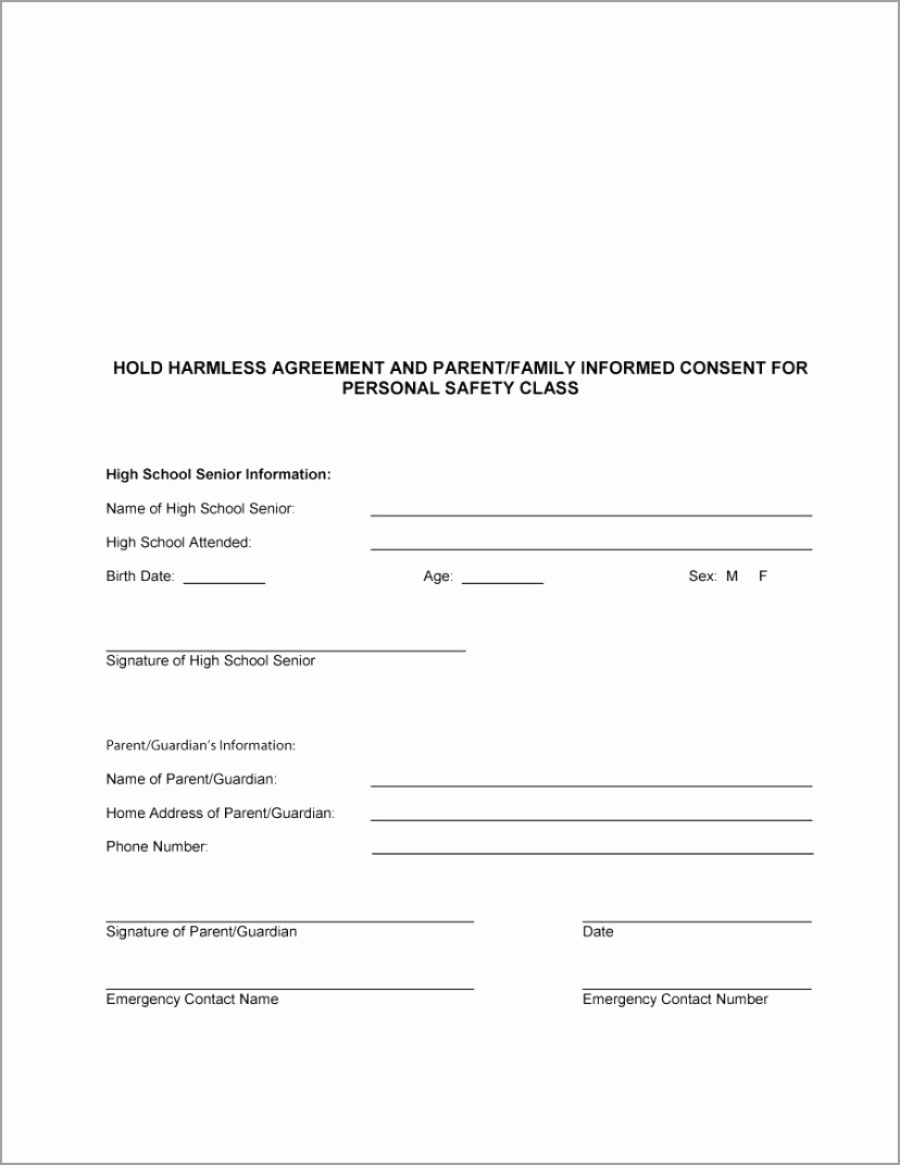 hold harmless agreement template 12 tpiip