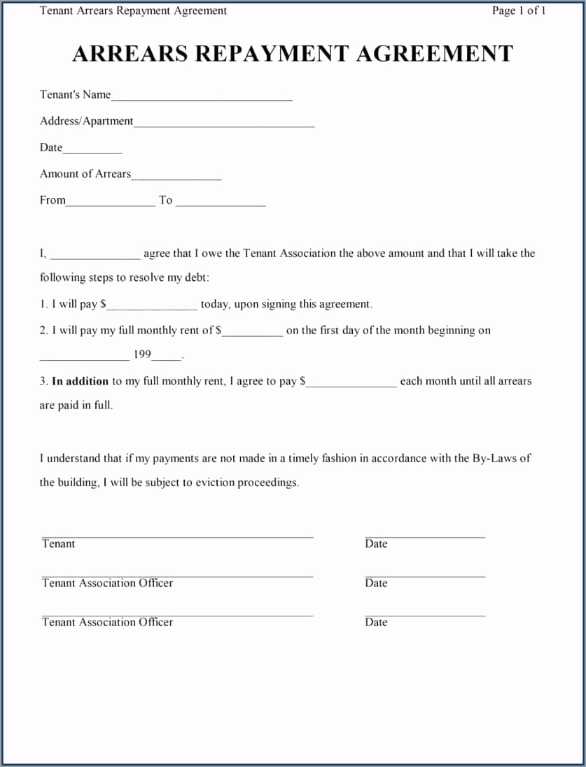 Sample of Loan Repayment Contract Template peira