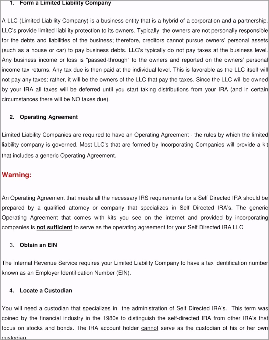10 steps to a self directed ira llc riayy