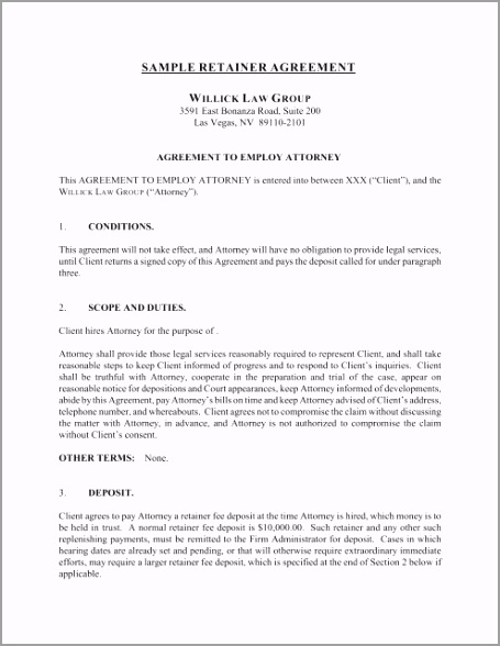 sample retainer agreement willick law group aroau
