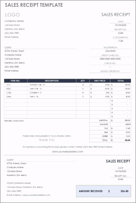 IC Sales Receipt Template 0 eoitu