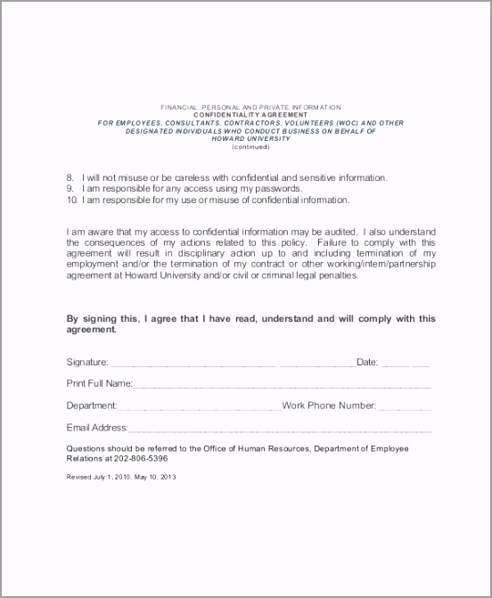 HR Employee Confidentiality Agreement euyeu