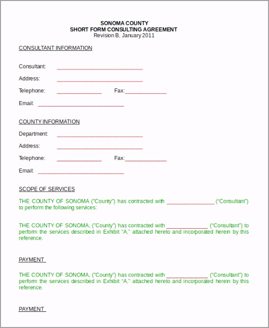 Sample Short Form Consulting Agreement iusap