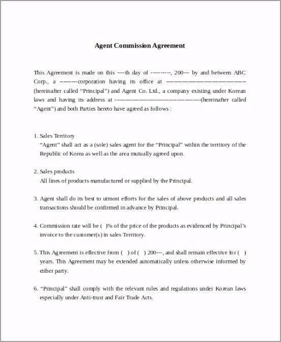 Contract mission Sales Agreement rriyo