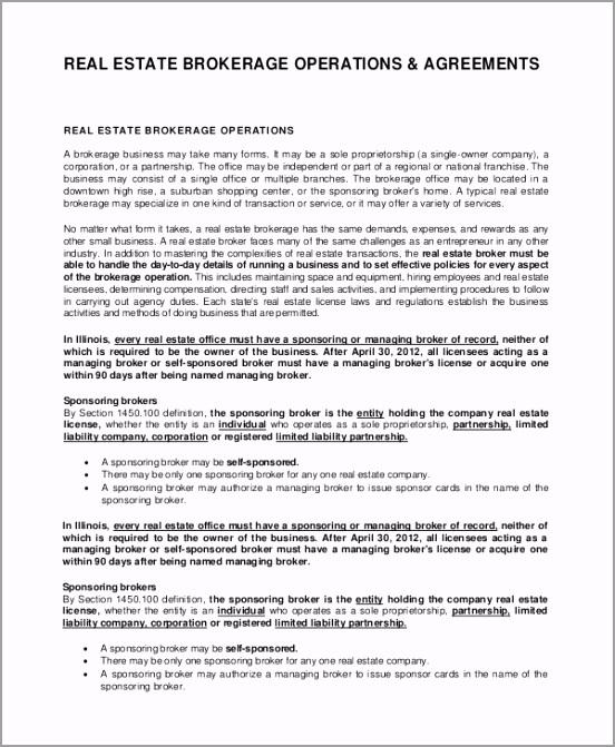 Real Estate Broker Employment Agreement aerrt