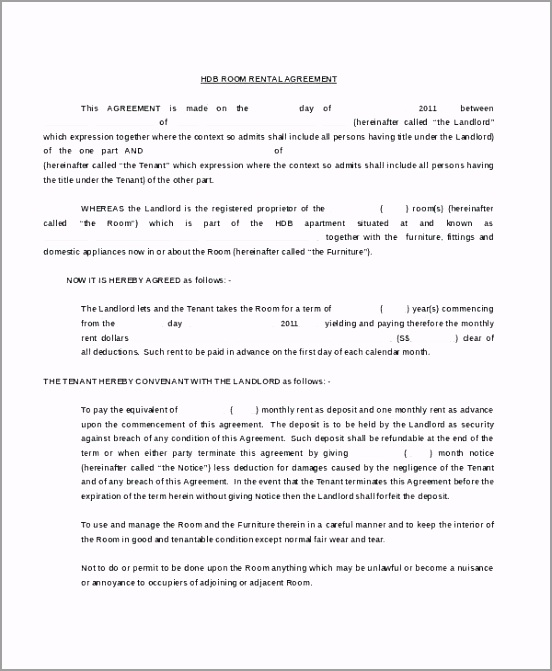apartment rental agreement template lease contract example free iaryn