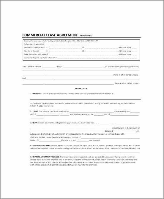 mercial Land Lease Agreement towia