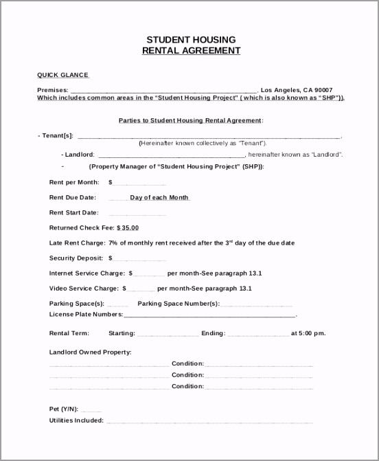 Student House Rental Agreement uuwge