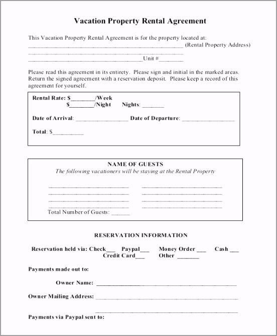 Vacation Property Short Term Rental Agreement Free Sample Download eptku