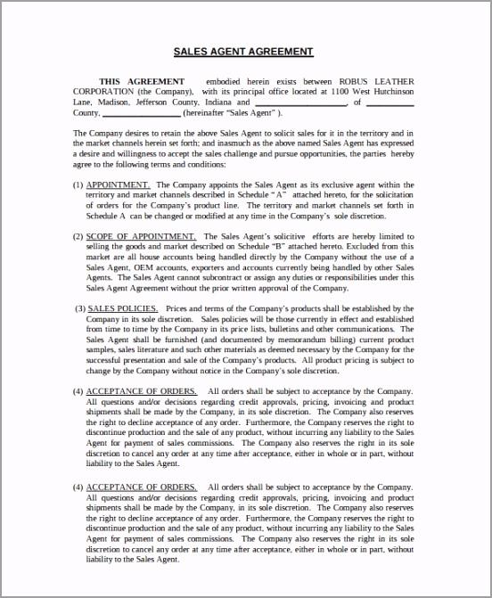 Exclusive Sales Agency Agreement iuuur