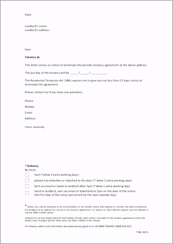 Tenant to Landlord Handwritten Tenancy Termination Letter wreoh