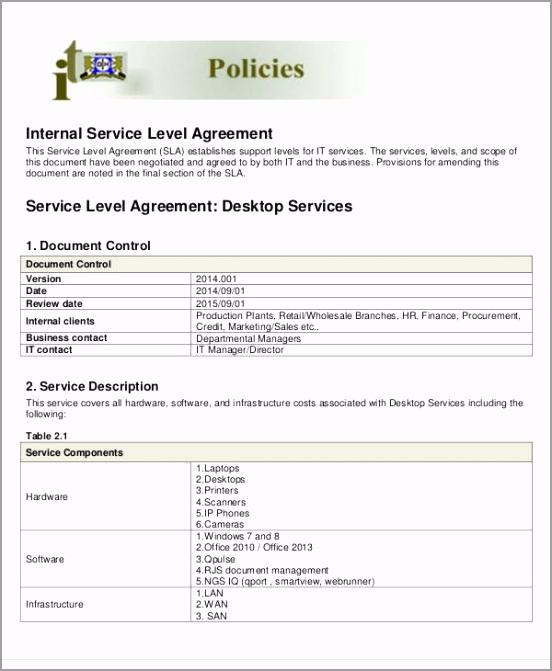 Internal Service Level Agreement2 tamwu