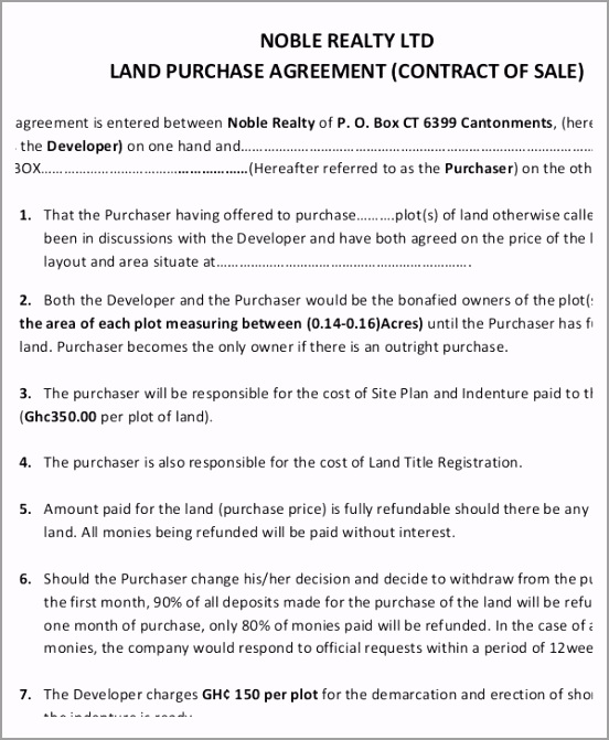 Land Contract Purchase Agreement Form orgwp