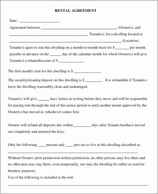 free rental lease agreement uttuu