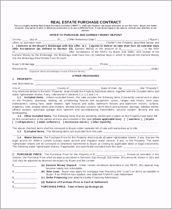 Real Estate Purchase Contract Template uiyiw