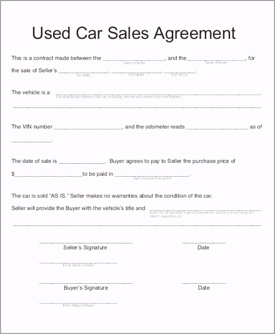 car sale contract used car agreement template car sell contract template maggihub peeim