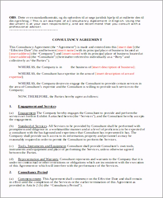 Marketing Consulting Retainer Agreement riaih